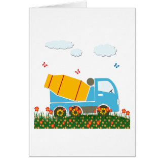 Cement mixer truck card