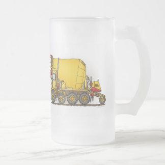 Cement Mixer Truck Glass Mug