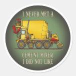 Cement Mixer Truck Operator Quote Kids Sticker