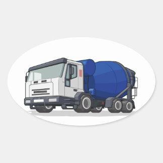 Cement Mixer Truck Oval Sticker