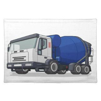 Cement Mixer Truck Place Mat