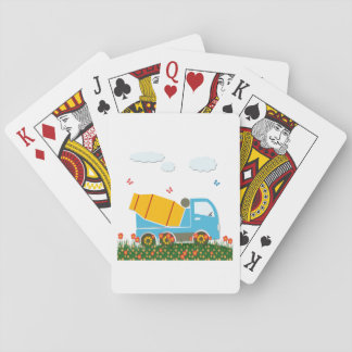 Cement mixer truck playing cards