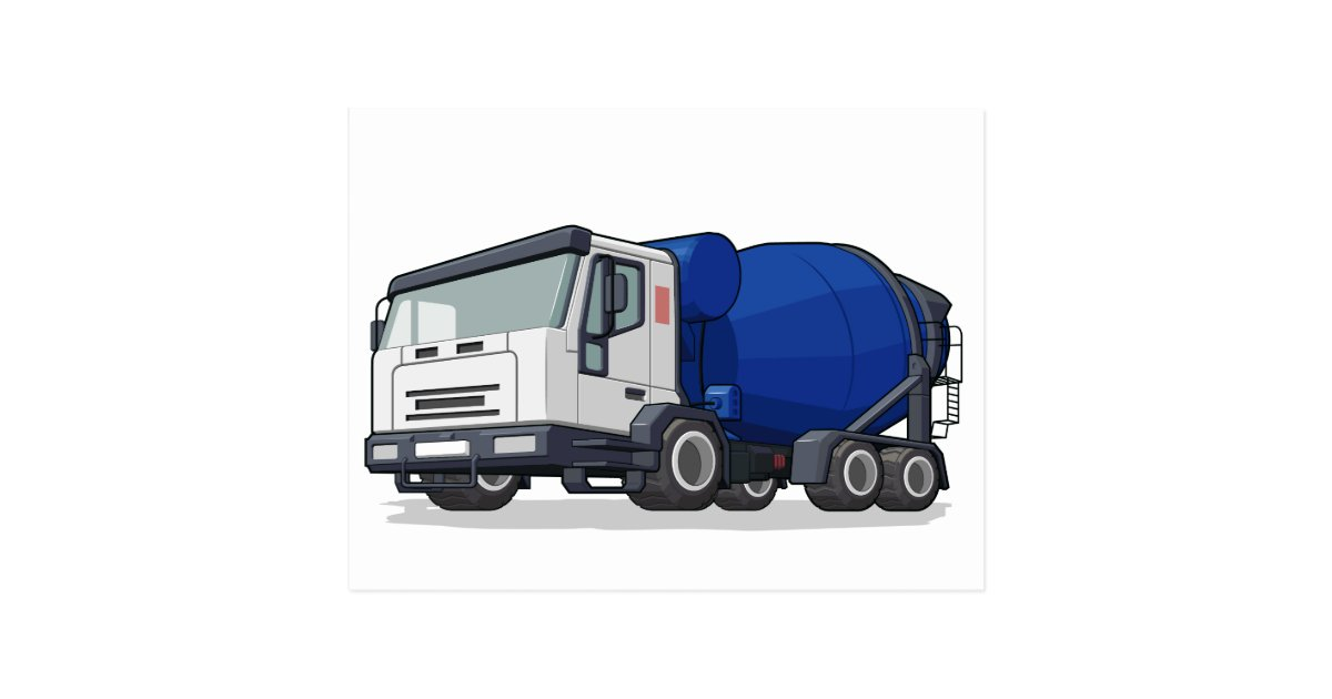 Build Your Own Cement Mixer ~ Cement mixer truck postcard zazzle