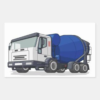 Cement Mixer Truck Rectangular Sticker