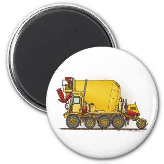 Cement Mixer Truck Round Magnet