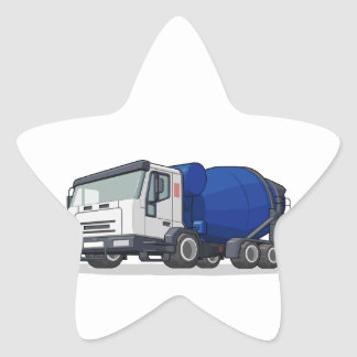 Cement Mixer Truck Star Sticker