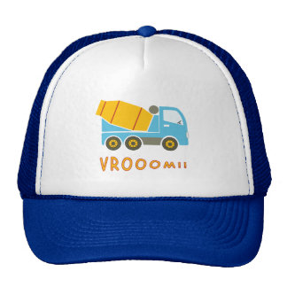 Cement mixer truck trucker hat
