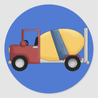 Cement Mixer Tshirts and Gifts Classic Round Sticker