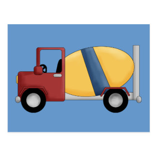 Cement Mixer Tshirts and Gifts Postcards