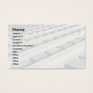 Cement seats business card