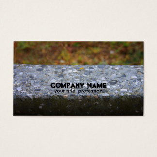 Cement Stone Stonemasons Business Card