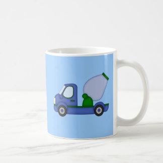 Cement Truck Art on Kid's Tshirt Classic White Coffee Mug