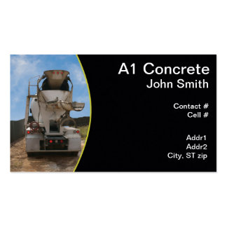 Cement Truck at construction site Double-Sided Standard Business Cards (Pack Of 100)