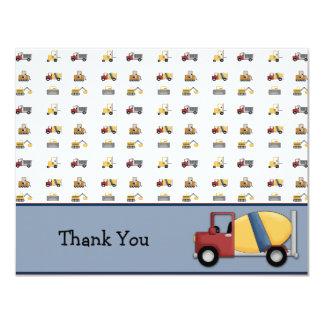Cement Truck Flat Thank You Card Custom Announcements