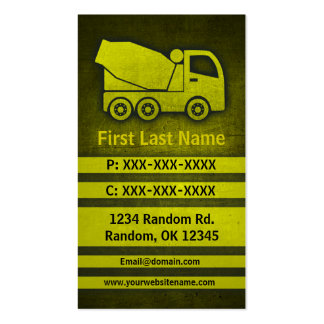 Cement truck grunge custom construction cards