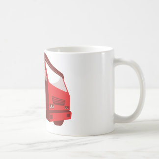 cement truck lorry retro style coffee mug