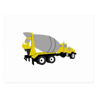 Cement Truck Postcard