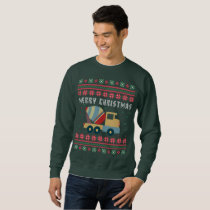 Cement Truck Ugly Christmas Sweater
