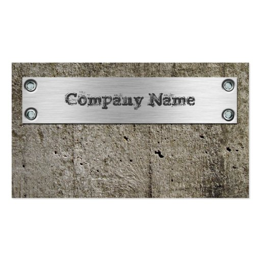 Cement Wall Metal Construction Business Card