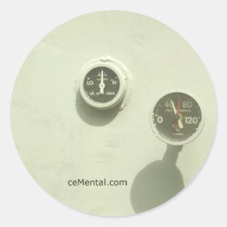 ceMental Classic Round Sticker