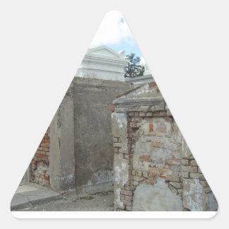 Cementerio 1 - New Orleans de St Louis Pegatina De Triangulo