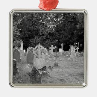 Cementerio Adorno Navideño Cuadrado De Metal
