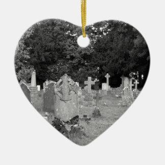 Cementerio Adorno Navideño De Cerámica En Forma De Corazón