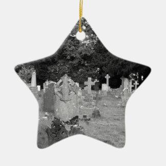 Cementerio Adorno Navideño De Cerámica En Forma De Estrella