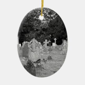 Cementerio Adorno Navideño Ovalado De Cerámica