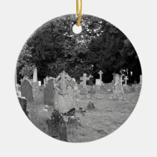 Cementerio Adorno Navideño Redondo De Cerámica
