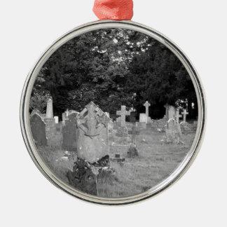 Cementerio Adorno Navideño Redondo De Metal