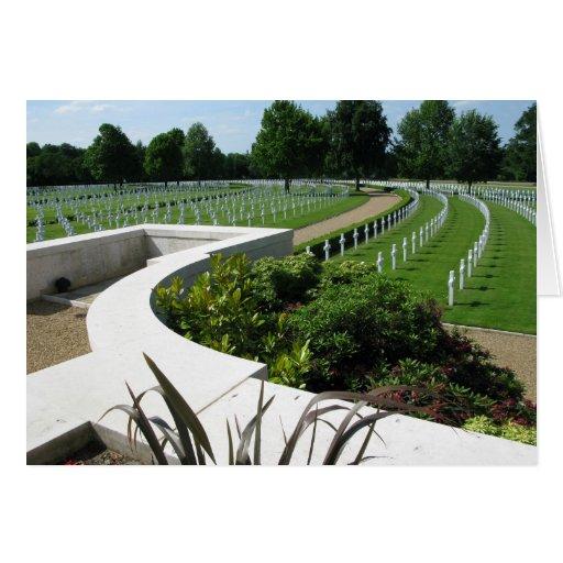 Cementerio americano Cambridge Inglaterra de la Se Tarjeta De Felicitación