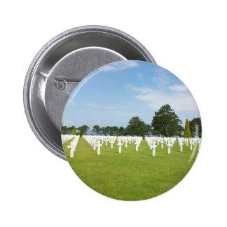 Cementerio americano en Francia Pin Redondo De 2 Pulgadas