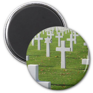 Cementerio americano en Normandía Imán Redondo 5 Cm