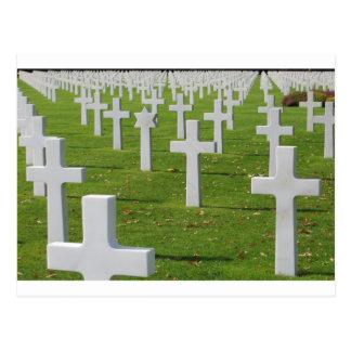 Cementerio americano en Normandía Postal