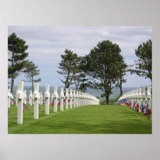 Cementerio americano en Normandía Póster