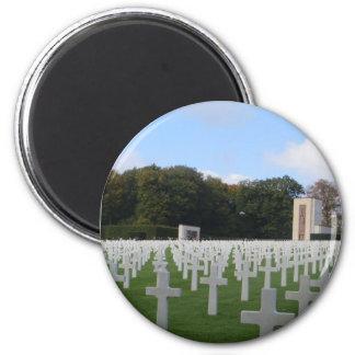 Cementerio americano Luxemburgo Imán Redondo 5 Cm