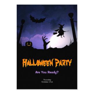 """Cementerio asustadizo - fiesta de Halloween de la Invitación 5"""" X 7"""""""