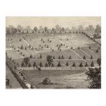 Cementerio atlántico de la visión, pueblo de tarjeta postal