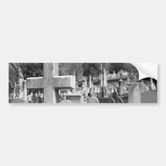 cementerio pegatina de parachoque