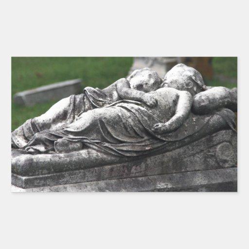 Cementerio Cherbs Rectangular Pegatinas