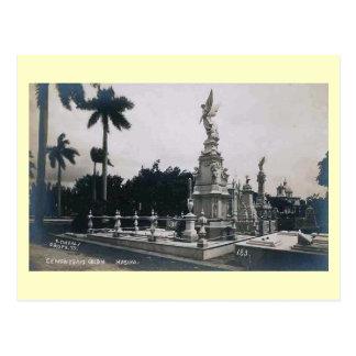 Cementerio Colon, Habana, Cuba Vintage Postcard