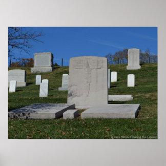 Cementerio cristiano de Arlington de la lápida mor Posters