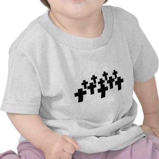 Cementerio - cruces negras camisetas