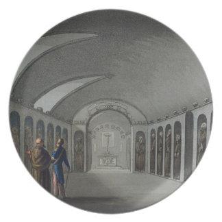Cementerio curioso debajo del monasterio del capuc plato de cena