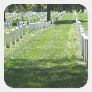 Cementerio de Arlington Pegatina Cuadrada
