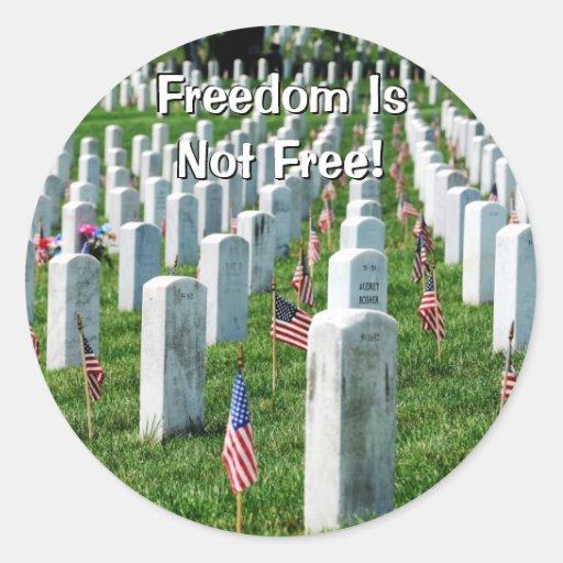 Cementerio de Arlington Pegatina Redonda