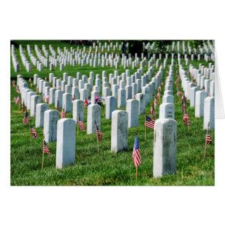Cementerio de Arlington Tarjeta De Felicitación