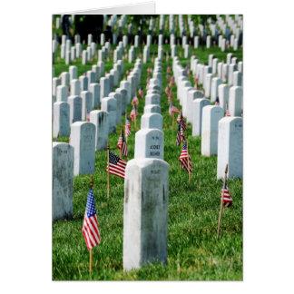 Cementerio de Arlington Tarjeton