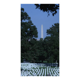 Cementerio de Arlington y el monumento de Washingt Poster